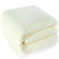 [当当自营]三利 高梳纱柔软舒适浴巾80×180cm 浅黄 不掉毛强吸水裹身巾