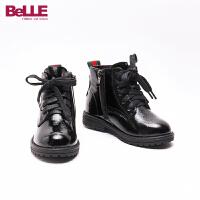 【159元任选2双】百丽童鞋女童靴子雪地靴中大童马丁靴男孩