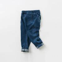 [2件3折价:98.1]戴维贝拉kids春季新款男女童中大童仿牛仔裤DBK9118