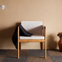 当当优品 橙舍创意休闲单人沙发椅 北欧布艺带坐垫电脑椅卧室简约现代椅子 单椅子