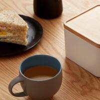 当当优品 橙舍创意陶瓷杯子牛奶咖啡杯水杯欧式马克杯带盖骨瓷杯套装 带盒
