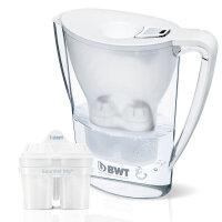 倍世BWT 厨房家用净水壶 直饮便携户外滤水壶 过滤净水杯2.7升 一壶二滤芯 白色 紫色 蓝色 绿色 粉色 橙色 六