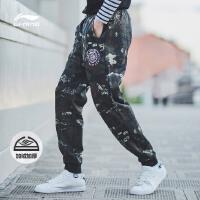 李宁卫裤男士BAD FIVE系列长裤保暖休闲男装收口运动裤AKLM599