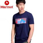 【到手价:119元 6月22日】Marmot/土拨鼠户外运动男士超轻速干排汗休闲圆领短袖棉T恤