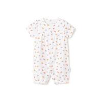 全棉时代小果实婴儿纱布收口短袖连体衣1件装