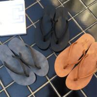 夏季情侣人字拖男时尚简约男女夹拖凉拖鞋平底沙滩鞋
