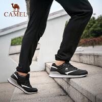 camel骆驼户外男款跑步鞋 耐磨系带低帮时尚男运动跑鞋