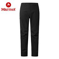 Marmot/土拨鼠运动户外防泼水耐磨透气加绒保暖M1男士软壳裤