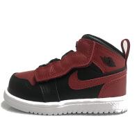 耐克�和� Air Jordan 1 Mid AJ1黑�t小童�����@球鞋 AR6352-074