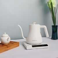 maybaum德国五月树家用不锈钢304沏茶壶电水壶智能保温七段控温烧水壶手冲咖啡壶0.5LK2K3 白色 K2