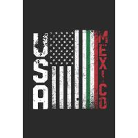 【预订】USA Mexico Flag: Dotted Bullet Grid Notebook - Journal