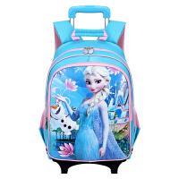 迪士尼(Disney)冰雪奇缘小学生拉杆书包女六轮可爬楼梯 BP6349C 蓝色 当当自营