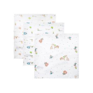 【加拿大童装】Gagou Tagou婴儿口水巾新生儿宝宝纯棉纱布小方巾手绢手帕超软方巾洗脸巾