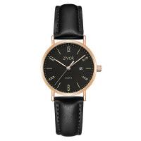 情侣手表 新品简约带日历时尚情侣皮带手表