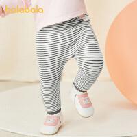 【2件5折价:37.5】巴拉巴拉宝宝裤子女童秋款2021新款打底裤女童休闲裤外穿蕾丝甜美