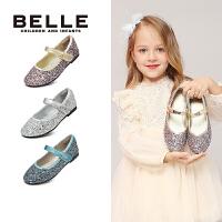 【159元任选2双】百丽童鞋女童舞蹈鞋秋季儿童公主鞋演出鞋中小童皮鞋单鞋