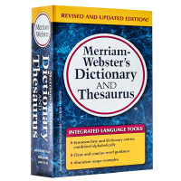 【中商原版】��林�f氏字典及�~源 英文原版 Merriam-Webster's Dictionary and Thesau