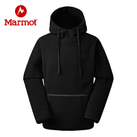 【书香节】Marmot/土拨鼠户外运动中性男女羊羔绒保暖连帽套头卫衣
