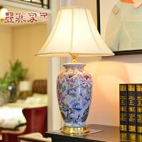 春秋繁露 中式灯饰现代创意家居欧式卧室床头陶瓷手绘台灯具