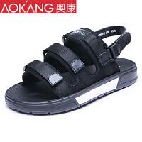 奥康凉鞋男 学生夏季百搭男士凉鞋韩版潮流沙滩鞋休闲鞋