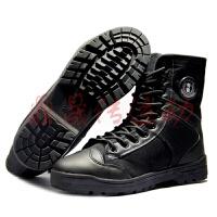 冬季加棉作训鞋黑色高帮男靴地勤鞋作战靴帆布战术靴雪地鞋