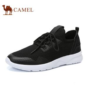 骆驼男鞋 2017男士透气网面鞋子韩版运动休闲鞋男跑步鞋子