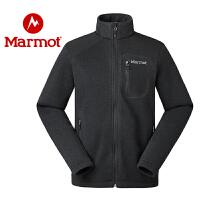 marmot/土拨鼠19新款秋冬新款户外保暖舒适弹力开衫男女抓绒衣