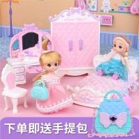 �和�芭比娃娃玩具套�b公主梳�y�_衣�慌�孩�^家家仿真房�g生日�Y物