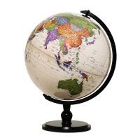 博目地球仪:32cm中英文仿古地球仪(炫影黑架)