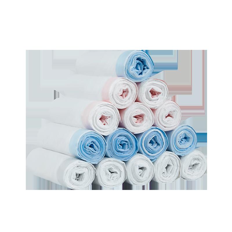 网易严选 抽绳式垃圾袋囤货装 轻松抽口,3色分类
