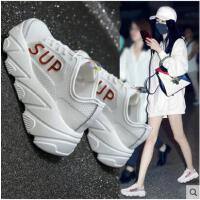 老爹鞋女韩版百搭休闲运动鞋女网红镂空透气小白鞋厚底鞋