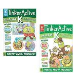 【顺丰速运】英文原版 Kindergarten 系列2本Tinkeractive Workbooks: Kinderg