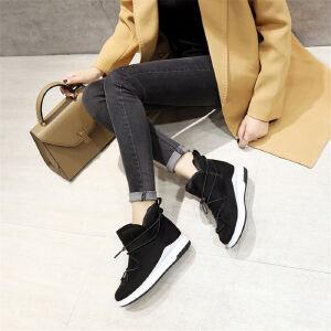 O'SHELL欧希尔新品071-X53韩版磨砂绒面松糕底女士雪地靴