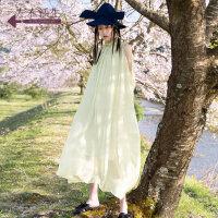 生活在左2019秋季女装新品真丝荷叶领连衣裙显瘦中长款裙子两件套