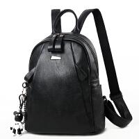 2019新款潮流韩版女士双肩包软皮书包旅行背包时尚百搭个性休闲包包