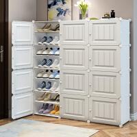 �易鞋柜大容量多�臃�m���型收�{神器家用室�群每捶砰T口鞋架子