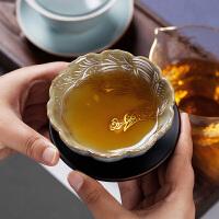 手工银凤小茶杯单只汝窑主人杯单杯开片可养大号个性茶道礼品个人杯