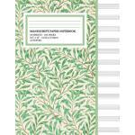 预订 Manu* Paper Notebook: Natural Green Cover, 12 Staff Musi
