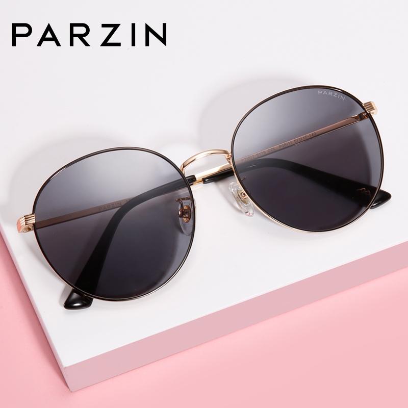 帕森2018新品 偏光太阳镜女 金属幼圆摩登时尚驾驶潮墨镜8175