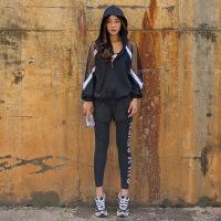 防晒外套防震文胸宽松运动三件套健身跑步套装女