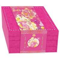 【献给女孩的贺岁大礼】姹紫嫣红芭比新年礼盒全7册 3-8岁女孩玩具书儿童读物新年贺卡对联等11款新意产品 芭比公主童话故