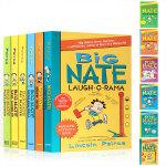 英文原版 Big Nate大内特系列6册活动书 我们班有个捣蛋王漫画故事集 小屁孩日记作者推荐 儿童爆笑漫画章节书 学