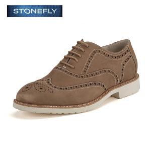 STONEFLY/斯通富来专柜同款英伦透气复古驾车布洛克牛皮单鞋男SD61122823
