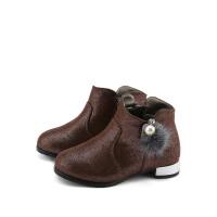 【99元任选2双】芭比童鞋女童休闲鞋时尚马丁靴春秋款男孩中大童