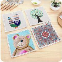 欧式简约棉麻餐垫 创意加厚餐桌垫时尚布艺隔热垫
