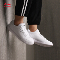 李宁休闲鞋女鞋新款Superwave轻便休闲板鞋小白鞋春秋运动鞋AGLM016