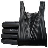加厚垃圾袋家用加大�黑色手提拉提袋商用背心式圾圾桶塑料袋�N房