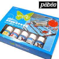 法国贝碧欧Pebeo 玻璃手绘颜料初学套装 玻璃颜料 098101C