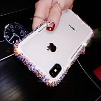 抖音新款iphone6手机壳女苹果6splus软壳护套6s彩钻创意防摔全包6