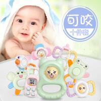 【下单立减50】活石 手摇铃婴儿玩具0-3-6-12个月牙胶宝宝1岁2男女孩新生幼儿益智礼盒